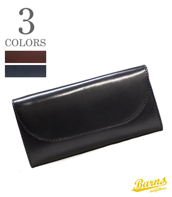 BARNS バーンズ FLAP LONG WALLET   CORDVAN