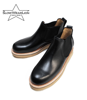 SLOW WEAR LION スローウエア OILD LEATHER SIDE GORE BOOTS