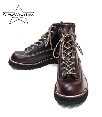 SLOW WEAR LION PULL UP LEATHER ZIP MID BOOTS