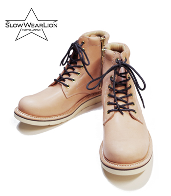 SLOW WEAR 栃木レザー PLAIN MID BOOTS