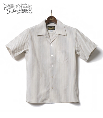 ORGUEIL Dobby Stripe Open Collared Shirt
