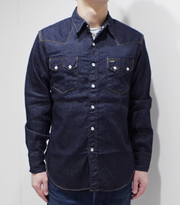 SUGAR CANE 8oz. DENIM WESTAN SHIRT