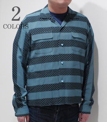 STAR OF HOLLYWOOD STRIPES L/S OPEN SHIRT