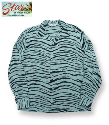 STAR OF HOLLYWOOD TIGER L/S OPEN SHIRT