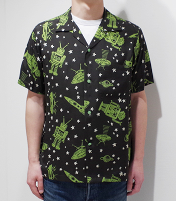 STAR OF HOLLYWOOD SPACE ROCKETS OPEN SHIRT