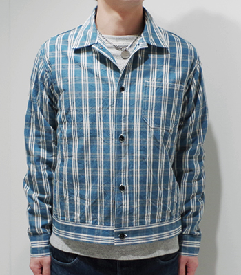 SUN SURF SOUTH SEAS オアフ・ガーメント 10.25oz. PALAKA CHECK WORK BLOUSE