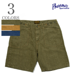 PHERROW'S LINEN DENIM SHORT PANTS