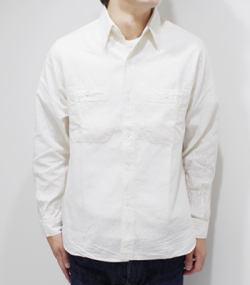 BUZZ RICKSON'S WHITE CHAMBRAY WORK SHIRT