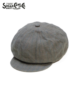 SUGAR CANE 11oz. COVERT STRIPE 12 PANELS CASQUETTE