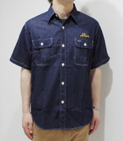 SUGAR CANE COLORED DENIM EMB'D WORK SHIRT
