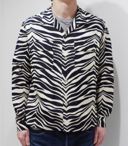 STAR OF HOLLYWOOD ZEBRA L/S OPEN SHIRT