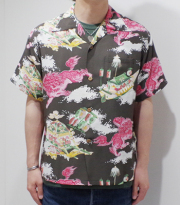 7361f3184 SUN SURF サンサーフ SHORT SLEEVE RAYON ALOHA SHIRT '18MODEL『ORIENTAL FESTIVAL 』【アロハ・和柄】SS37773