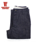 WAREHOUSE INDIGO DENIM CHINOES