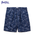 PHERROWS INDIGO CAMO SHORT PANTS