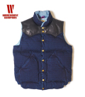 WAREHOUSE INDIGO RIP STOP DOWN VEST