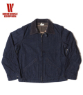 WAREHOUSE LINED DENIM ZIP UP JACKET
