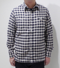 CUSHMAN HERRINGBONE CHECK WORK SHIRT