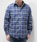 CUSHMAN C/L INDIGO CHECK WORK SHIRT