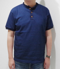 CUSHMAN INDIGO HEAVY WEIGHT HENLEY TEE