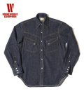 WAREHUSE LONG HORN TYPE DENIM WESTERN SHIRT