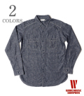 WAREHOUSE CHAMBRAY SHIRTS WITH CHINSTRAP
