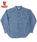 WAREHOUSE CHAMBRAY SHIRTS WITH ELBOW PATCH