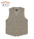 STUDIO D'ARTISAN RAILROAD HICKORY WORK VEST