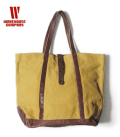 WAREHOUSE LEATHER&CANVAS TOTE BAG