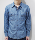 40's MODEL CHAMBRAY WORK SHIRT