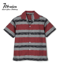 706UNION J-BORDER S/S OPEN SHIRT