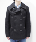 BUZZ RICKSON'S WILLIAM GIBSON COLLECTION 36oz. WOOL MELTON BLACK P-COAT