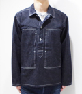 BUZZ RICKSON'S NAVY DENIM PULL OVER JACKET