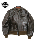 BUZZ RICKSON'S A-2 ROUGHWEAR CLOTHING CO. ANILINE HAND FINISHED