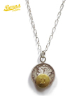 Button Works Mercury Dime Coin Necklace-Brass