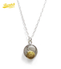 BARNS Roosevelt Dime Coin Necklace-Brass