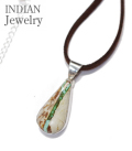 INDIAN JEWELRY NAVAJO SIVER PENDANT TURQUOISE