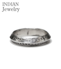 INDIAN JEWELRY NAVAJO STAMPED SILVER RING