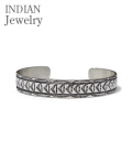 NAVAJO STAMPED SILVER BANGLE