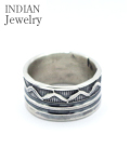 NAVAJO STAMPED SILVER RING