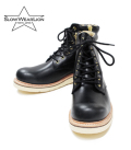 SLOW WEAR OILD LEATHER PLAIN MID BOOTS