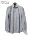 ORGUEIL Blue Stripe Windsor Collar Shirt