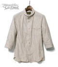 ORGUEIL Stripe Shawl Collar Shirt