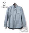 ORGUEIL Indigo Check Shawl Collar Shirt