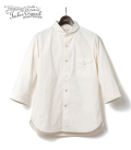 ORGUEIL Cotton Shantung Shawl Collar Shirt
