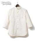 ORGUEIL Cotton Shantung Shawl Collar Shirt