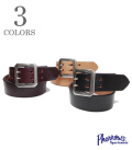 PHERROW'S LEATHER DOUBLE PIN BELT