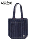 SUGAR CANE 9oz. WABASH STRIPE REVERSIBLE TOTE BAG