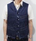 SUGAR CANE 9oz WABASH STRIPE WORK VEST