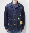 SUGAR CANE 9oz. WABASH STRIPE WORK COAT