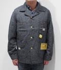 SUGAR CANE 9oz. BLACK COVERT WORK COAT